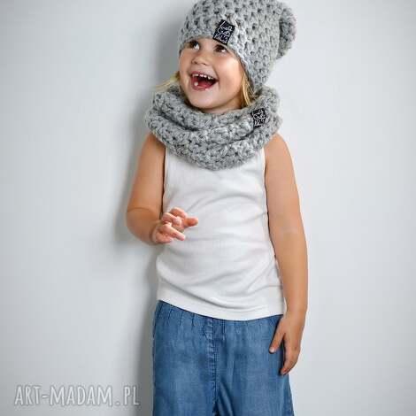 czapka monio 04, czapka, wełna, włóczka, dziecko, szydełko, zima, unikalny prezent