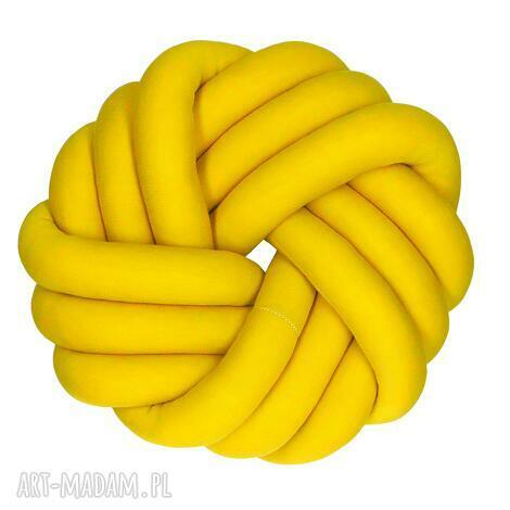 ręcznie pleciona dekoracyjna poduszka supeł swirl knotpillow 30x30, knotpillow, knot