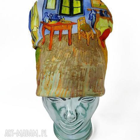 czapka van gogh, nadruk, wnętrze, dzieło sztuki, pokój