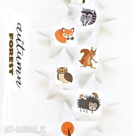 autumn animals - girlanda jesienne zwierzĘta - girlanda, gwiazdki, zwierzęta