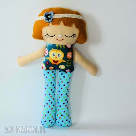 lalka lula - ewelina 32 cm, lalka, lula, sówka, kolorowa, dziewczynka, urodziny dla