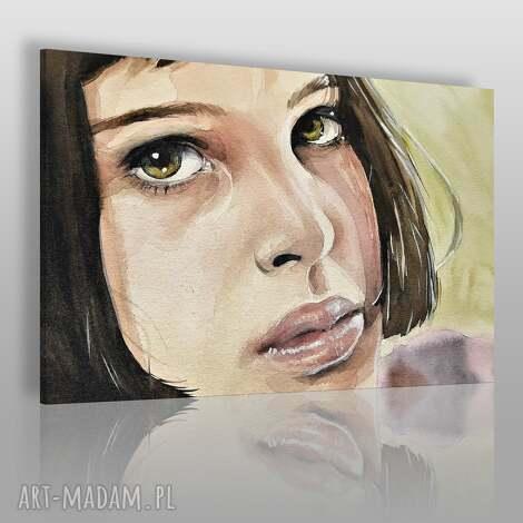 obraz na płótnie - portret kobieta 120x80 cm 76701, kobieta, dziewczyna, matylda