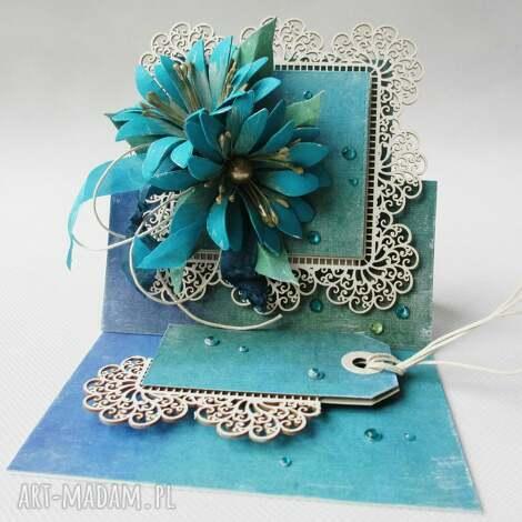 kartka sztalugowa - szmaragd - ślub, życzenia, pamiątka, gratulacje