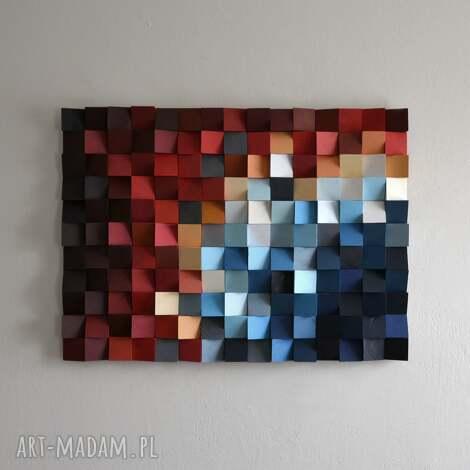 dekoracje obraz drewniany 3d mozaika drewniana nishiki-goi, mozaika, drewno