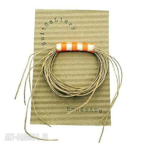 eko wheel - broszka w kratkę 2 - przypinka, broszka, tkanina, krata, kratka, dodatek