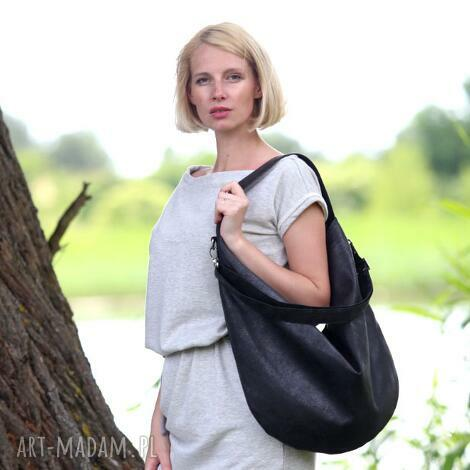 bags philosophy hobo xl j black, czarna, torebka