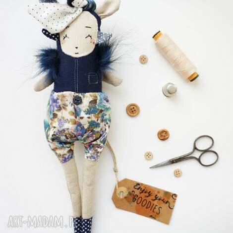 monsterówna xenia - lalka z tkanin handmade - prezent dla dziecka, zabawka szmaciana