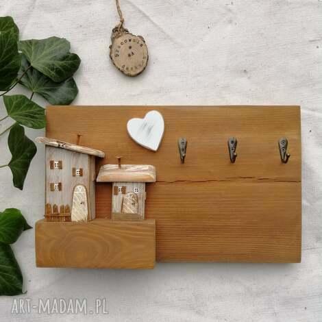 wieszaki rustykalny wieszak na klucze no 1, dom domek, drewniany