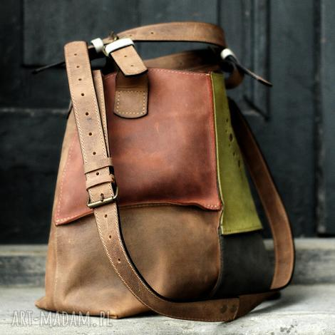 torebka do pracy i podróż alicja wykonana ręcznie z naturalnej skóry przez