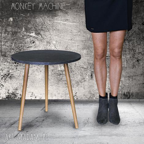 stolik kawowy beton ciemny, stolik, kawowy, beton, drewno, loft, industrialny