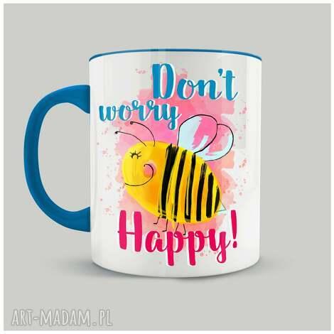 kubki kubek dont worry bee happy, prezent, przyjaciółka, przyjaciel, ceramika