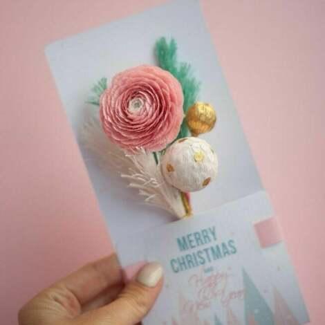 Mira flowers93, karteczki 3d na prezent. (gift, oryginał, święta, super)