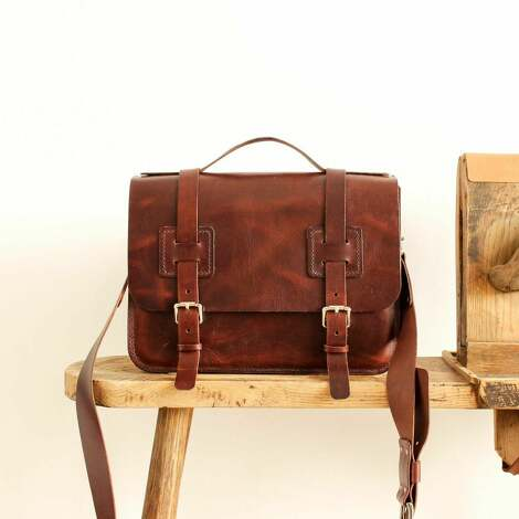 URSUS MAXYMUS, skórzana torba na ramię conoantine listonoszka, skóra, szyte ręcznie