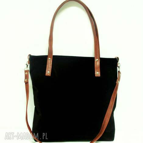 shopper bag - modna, czarna, torba, musthave, szyte