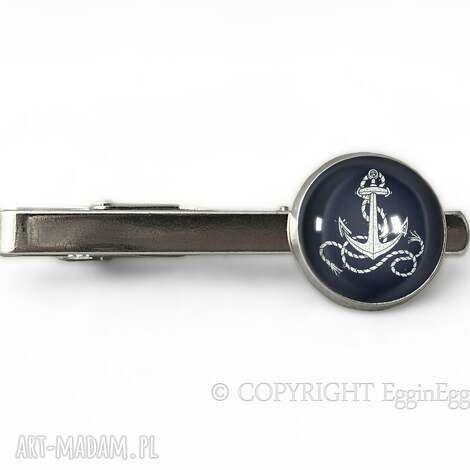 męska kotwica - spinka do krawata, kotwica, marynarskie, spinka, prezent
