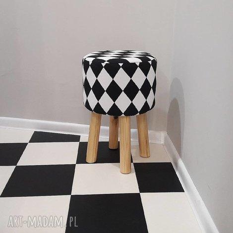 pufa arlekin 2 - 45 cm, puf, taboret, hocker, vintage, stołek, ryczka