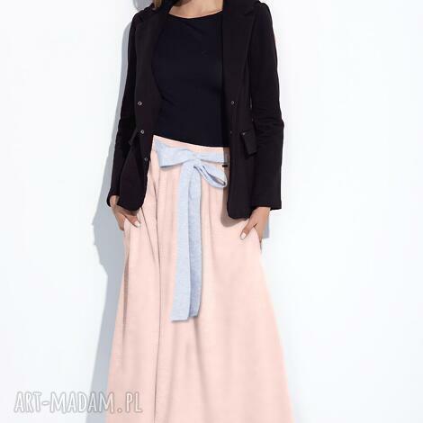 bien fashion długa różowa spódnica do kostek na lato m, maxi, długa, bawełniana