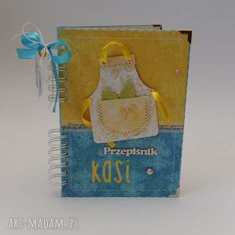 scrapbooking notesy książka kucharska z fartuchem, przepiśnik