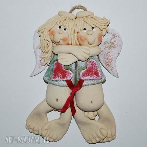 ślub silne więzy - zakochane aniołki, prezent, ślub, jubileusz, dekoracja, anioły
