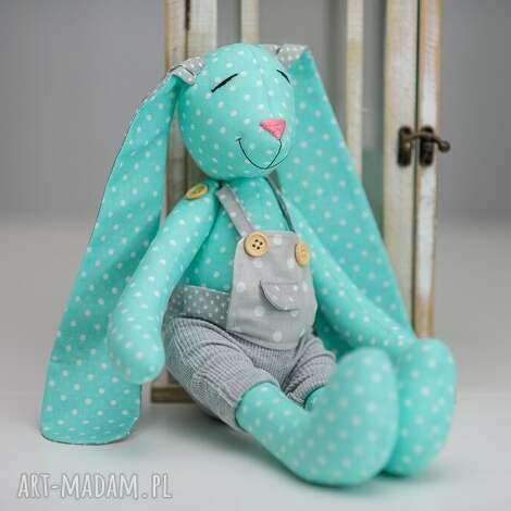 królik miś z imieniem chrzest prezent - królik, personalizacja, prezent