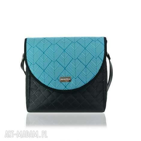 na ramię torebka puro 2062 diamonds sea, ręcznieszyte, pojemna, nacodzień, wygodna
