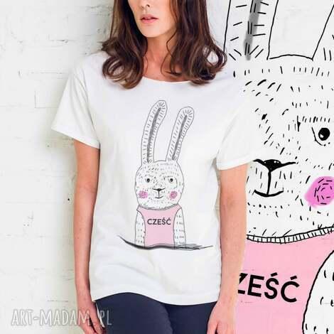 koszulki cześć zającu oversize t-shirt, ubrania