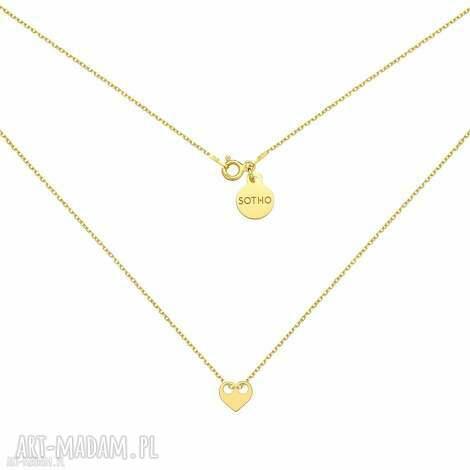 złoty naszyjnik z serduszkiem, serduszko, serce, minimalistyczny, pozłacany