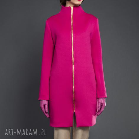 różowy płaszczyk - valentimo, klasyczny, elegancki