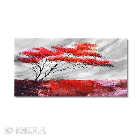 obrazy samotne drzewo, nowoczesny obraz ręcznie malowany, pejzaż,