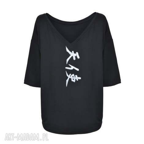 tuniki bluzka czarna tensi / angel, tunika, sukienka, wiosna, lato, malowanka