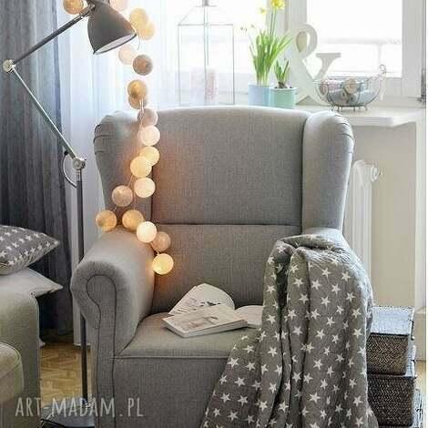 pokoik dziecka cotton ball lights by pretty pleasure, pokój, dziecka, girlandy