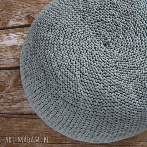pufa hygge/scandi 30x45cm, ściągany pokrowiec -jasnoszara - pufa, skandynawski