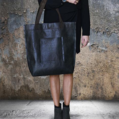 torba mr m vintage czarna skóra naturalna - torba, vintage, miejska, skóra