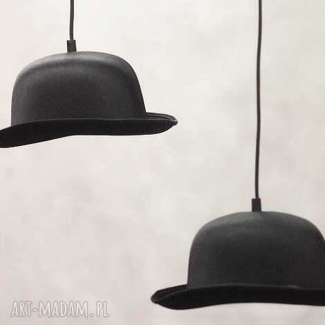 sufitowa lampa wisząca kapelusze, kapelusz, cylinder, llampa, design, dom, salon