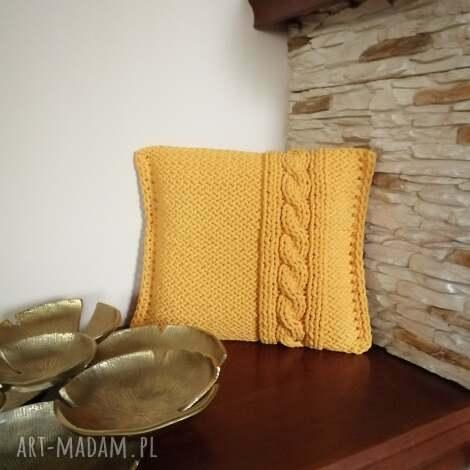 poduszka ze sznurka bawełnianego z wkładem 40cmx40cm, dekoracyjna