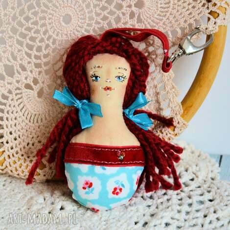 brelok - panna ścinka ręcznie malowana 3, brelok, lalka, kobieta