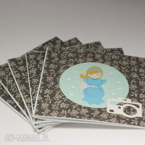 zaprszenie na sesję ciążową - 1 szt, zaproszenie, sesja, zdjęcia, ciąża, kartka