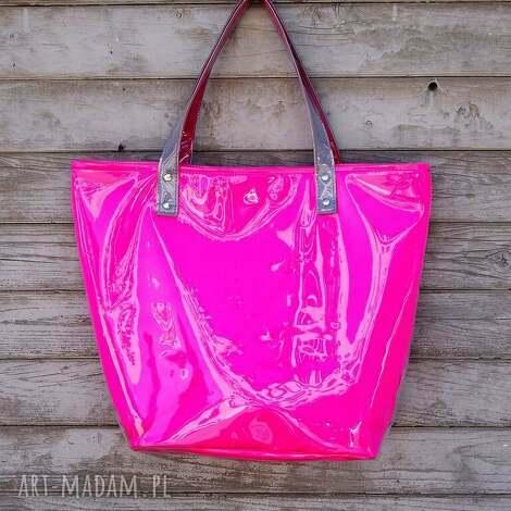 976cecbef51bb Na ramię ręcznie robione torba na prezent różowe269,00 zł. unikalny, neon  shopper pink, elegancka, wieczorowa torebki