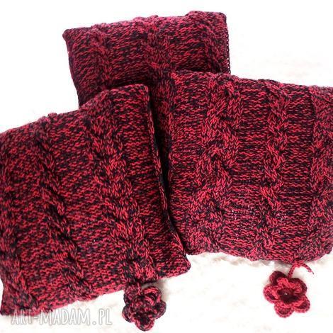 poduszki robione ręcznie wełna 40x40 cm 3szt, poduszki, poduszka, poszewka
