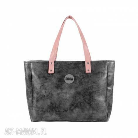 unikalny prezent, do ręki torba damska cuboid maxi ii, duża, elegancka, na-zakupy