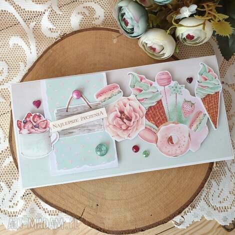 najlepsze życzenia, kartka, urodziny imieniny uroczystość, słodkości