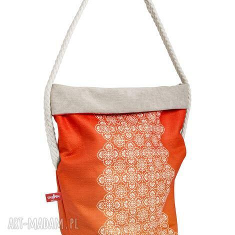na ramię wór the pin - orange z bawełnianą liną, wielofunkcyjny, wygodny, stylowy