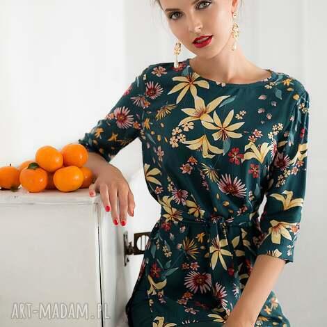 bluzka w kwiaty zielona, bluzka, kwiaty, elegancka, uniwersalna, luźna, oversizowa