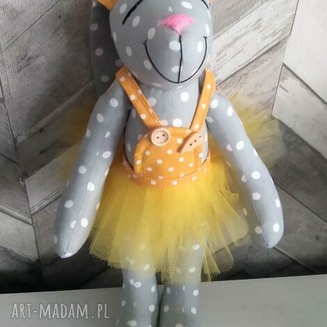 ArtShopLalaShop, królik prezent chrzest imię dedykacja personalizacja haft