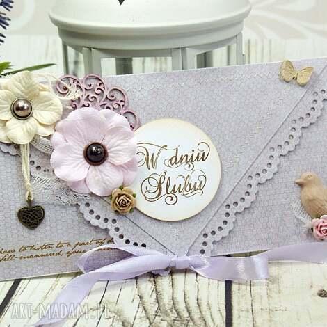 kartka ślubna- delikatność poranka - ślub, wesele, ślubna, kartka