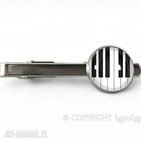 męska fortepian - spinka do krawata, fortepian, klawisze, pianino, muzyczna