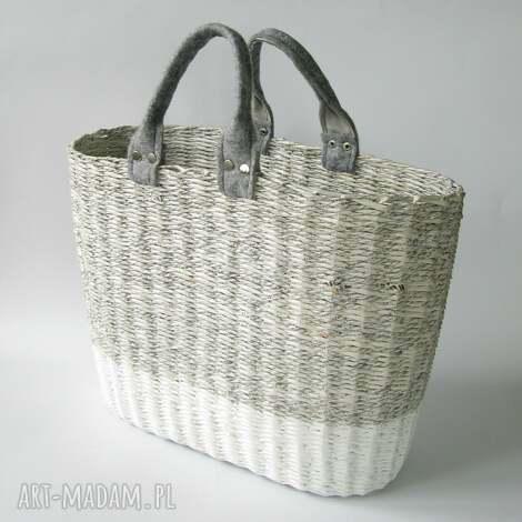 torba gray white, koszyk, torba, eko torebki