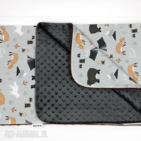kocyk minky 75x100 wild one - kocyk, minky, las, zwierzęta, dziecko, chłopiec
