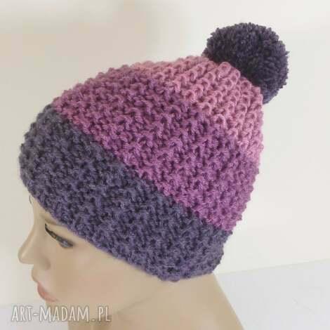 trójkolorowa czapka narciarska - czapka