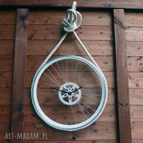 bikes bazaar zegar marine, sznur, morski, duży, okrągły, metalowy, loft dom